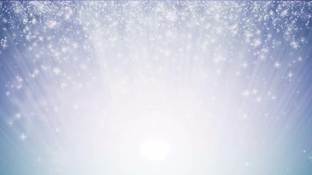 gevreği : Loopable, seamless loop Christmas background with small snowflakes star particles. Light ray beam effect Stok Video