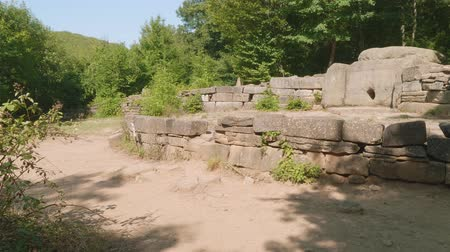 mitolojik : Side view of ancient dolmen building