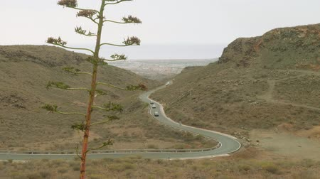 greatness : View from viewing ponti in centre of Grand Canaria. Cars moving on road