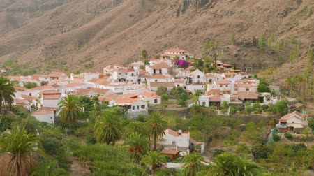 bin : View of architecture of little town Fataga from hill