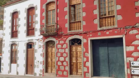 castilian : Beautiful white and red buildings in Tejeda