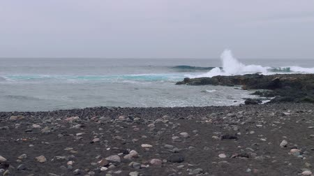 greatness : Swell on north coast of Gran Canaria Stock Footage