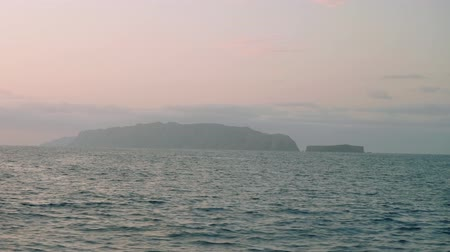 grande : View of Deserta Grande in early morning from board of sailing yacht