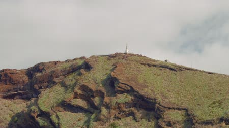 Huge monument to Jesus Christ on Madeira island, cape Ponta do Garajau