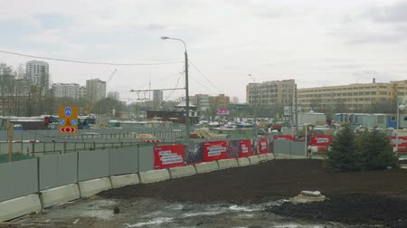 médio : MOSCOW - CIRCA APRIL, 2018: View of big building area in city