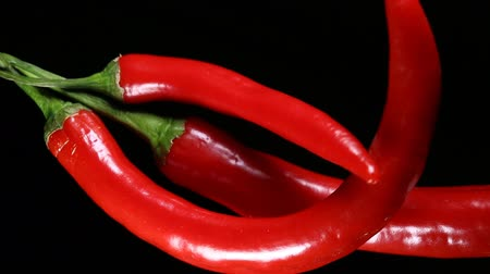 pimenta : Fresh red hot chili peppers. Macro shot.