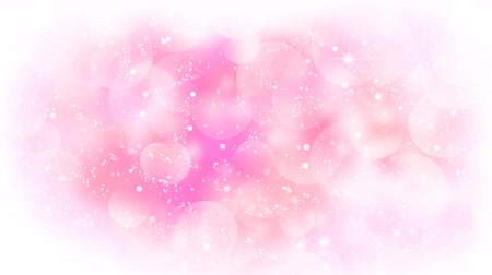 Pink circles appear on the shining soft background. Valentines Day holiday abstract loop animation.