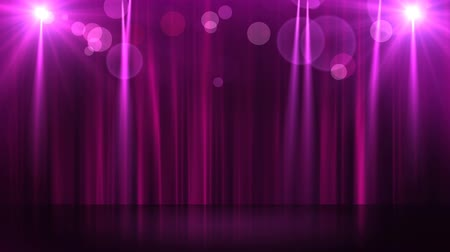 talapzat : Stage with spot lighting, shining empty scene for holiday show, award Ceremony or advertising on the dark blue Background. Looped motion graphic. Stock mozgókép