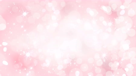 pink : Pink an white hearts appear on the shining soft background. Valentines Day holiday abstract loop animation. Stock Footage