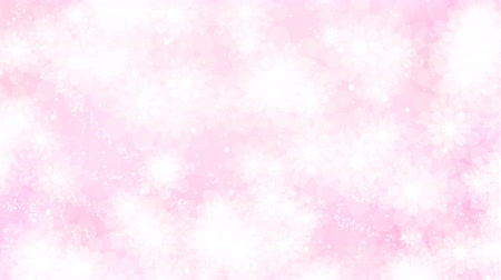 güzelleşmek : Beautiful pink flowers holiday background. Looped 4K motion graphic.
