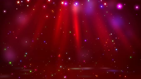 пьедестал : Stage with spot lighting, shining empty scene for holiday show, award Ceremony or advertising on the dark red Background. Looped 4K motion graphic.