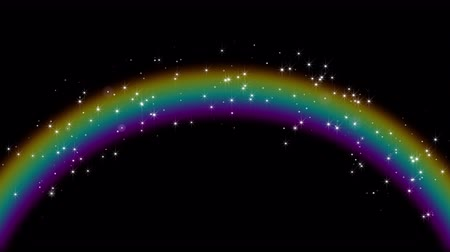 faerie : Fabulous rainbow appears with magic stars. Looped 4K motion graphic with Alpha channel.
