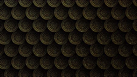 pravidelný : Seamless gold and black background with circles, dots geometric pattern. Looped 4K motion graphic.