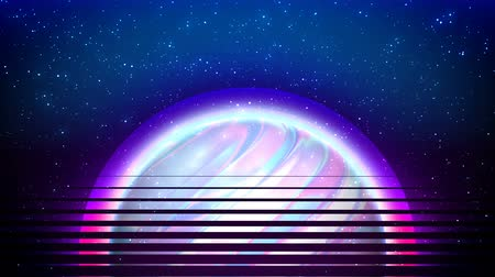Abstract futuristic background with Space, holographic Sun, for data and technology concept with virtual reality effect.