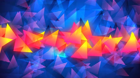 Bright abstract geometric background with triangle figures. Looped 4K motion graphic.