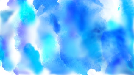 Beautiful blue, cyan, azure colorful spots appear on a white background. 4K motion graphic. Stock mozgókép