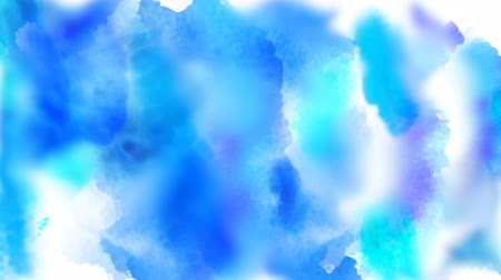Beautiful blue, cyan, azure colorful spots appear on a white background. 4K motion graphic. Stok Video