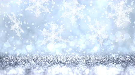 szürkeárnyalatos : Silver glitter texture abstract Christmas background. Looped 4K motion graphic.