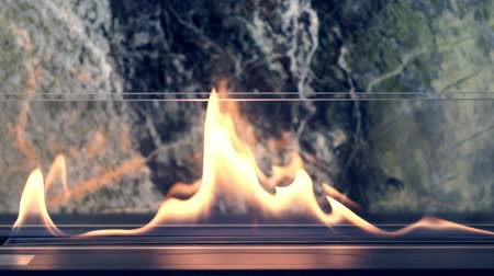 installer : Burning luxury modern gas fireplace