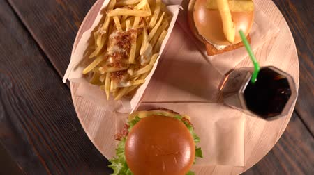 taberna : Two beef burgers with a serving of French Fries