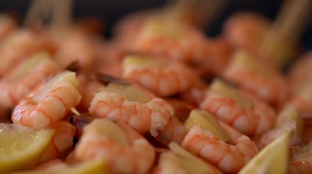 tray : Gourmet pink prawn starter with filling