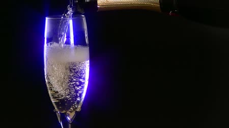 Pouring a romantic glass of champagne Wideo