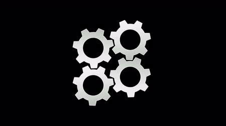 gear set working rotation,4K resolution motion graphic