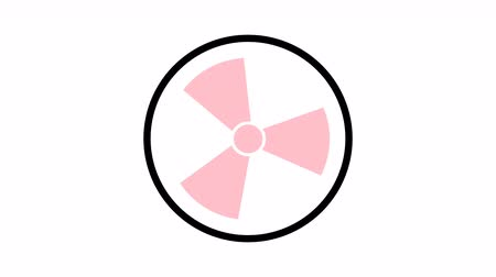 forgó : radiation icon symbol rotate,4K resolution motion graphic Stock mozgókép