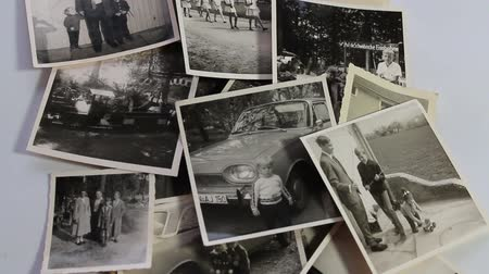 martwa natura : Stacking of historical photos, time lapse Wideo