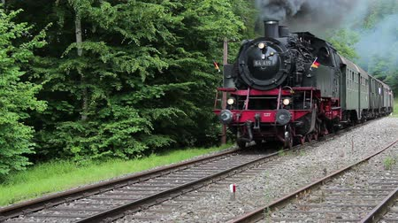 lokomotif : Old steam locomitive is passing by