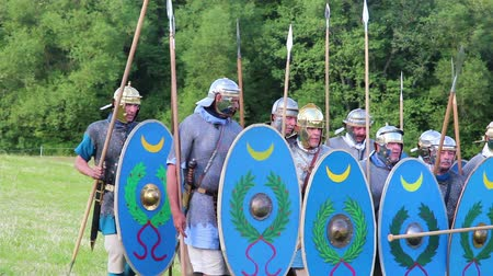 legionary : roman army is training