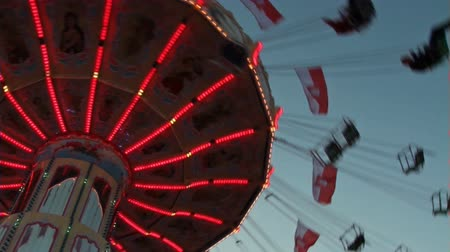 loud music : carousel in motion in closeup
