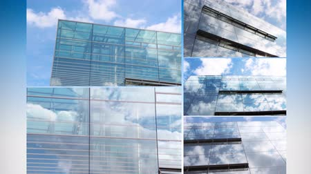 havai : Cloud reflection in a glass facade time lapse