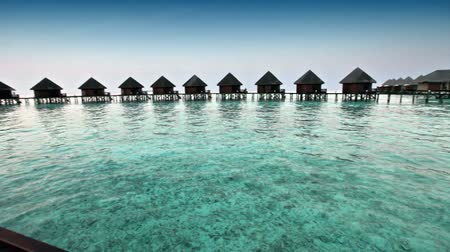 Мальдивы : houses on piles on sea. Maldives.