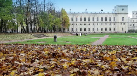 saintpetersburg : palace in autumn park, Russia, Gatchina