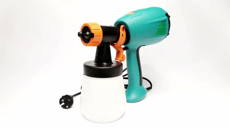 pulverização : Electrical spray gun for coloration, for color pulverization Vídeos