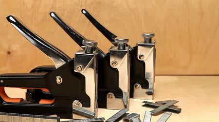 brackets : staplers manual mechanical - for repair work in the house and on furniture, and brackets