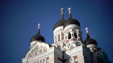 балтийский : Alexander Nevsky Cathedral is an orthodox cathedral in Tallinn Old Town, Estonia. It was built to design by Mikhail Preobrazhensky in a typical Russian Revival style