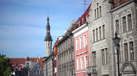 cobbles : Old houses on the Old city streets. Tallinn. Estonia