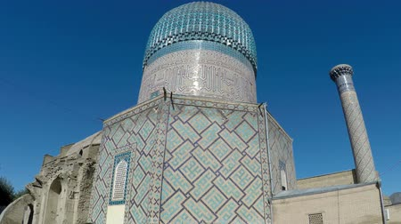 mausoléu : SAMARKAND, UZBEKISTAN — September 20, 2015:Ancient Mausoleum Gur Emir, a family tomb of Tamerlane Amir Timur and his successors, Samarkand, Uzbekistan, 15 century, UNESCO World Heritage Site