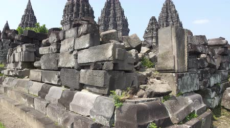 Candi Sewu Temple Complex of Prambanan in Central Java, Indonesia Filmati Stock