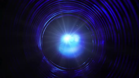 Abstract conceptual background with futuristic high tech wormhole tunnel Wideo