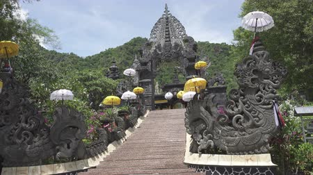 Temple Bali Indonesia, view in sunny day Stock Footage