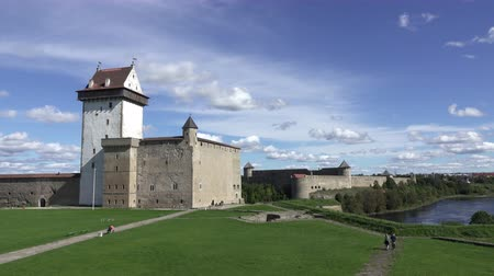 fortress Narva and Ivangorod Fortress on the border of Estonia and Russia