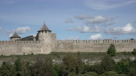 Ivangorod fortress on banks of Narva river