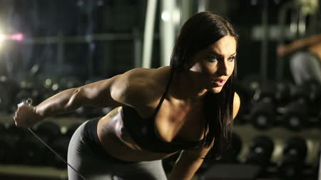 gym : Fitness girl in the gym
