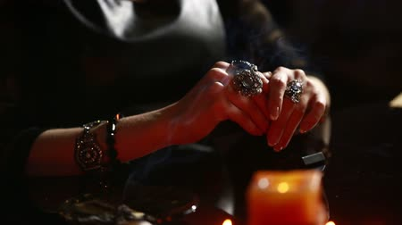 palmist : Witch - fortune teller reading fortune