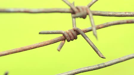 af : Rusty barbed wire.