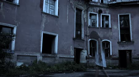konak : spirit of a girl with long hair near the old mansion. baby ghost