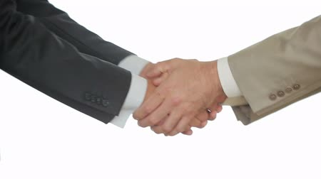 szerződés : A Business Handshake with White Background, Two men shake hands